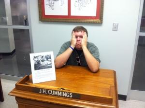 Evan Spencer does his best James Cummings impression