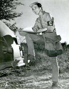 """Marion S. Coleman at the Tennessee Maneuvers. Her """"C"""" civilian armband will be on display in the exhibit!"""