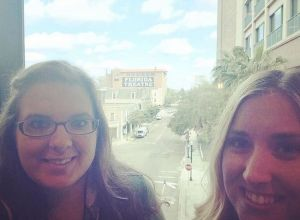 Casey and I attempt a selfie at the Southeastern Museums Conference showcasing the historic Florida Theatre in Jacksonville, FL.