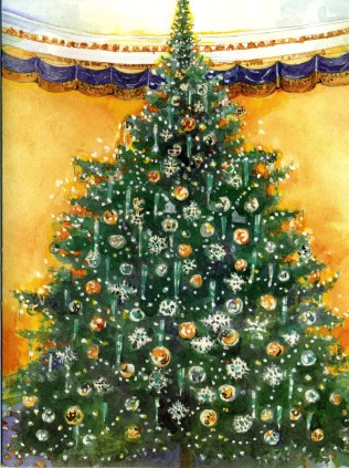 The front of Rep. Gordon's invitation to the 2001 Congressional Christmas Ball