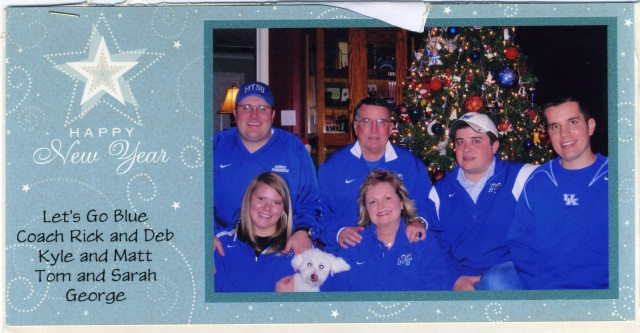 Holiday card from MTSU Women's Basketball Coach Rick Insell