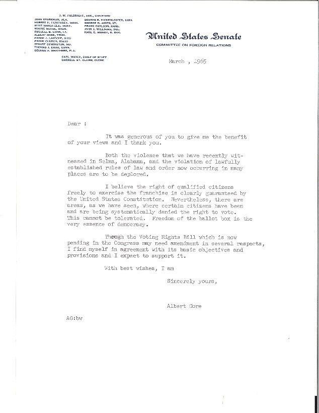 Gore Letter