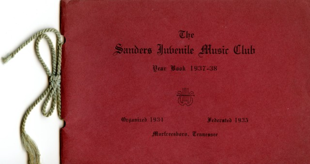 Saunders Juvenile Music Club Year Book, 1937-38