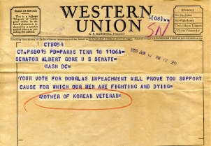 Telegram to Gore from WD Arnold on Rosenbergs004