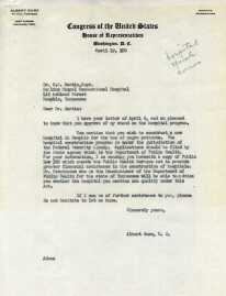 Letter to Dr. Martin from Gore.